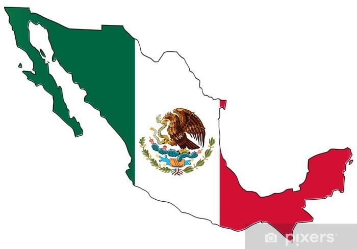 Icono Mapa Mexico Png: Fotomural Mapa De La Bandera De México • Pixers