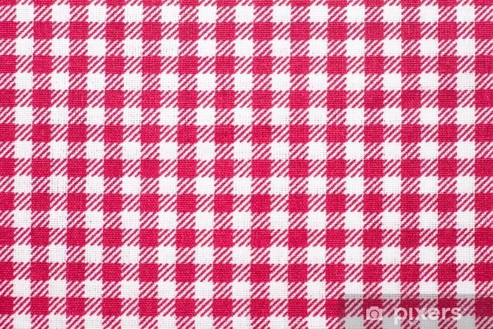 sticker nappe à carreaux fond de texture rouge et blanc, serviette