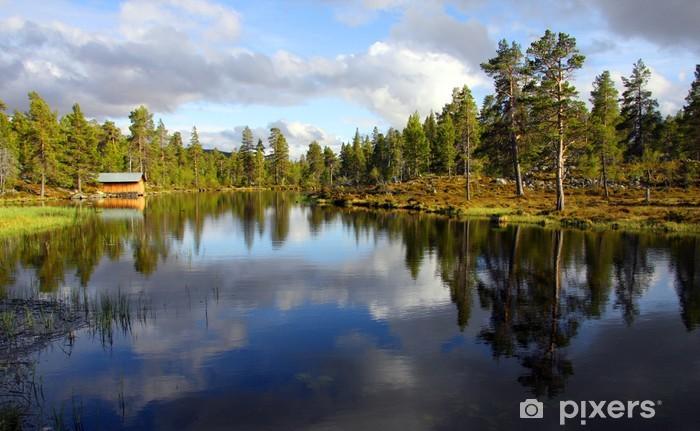 Papier peint vinyle Lac dans les montagnes suédoises - Thèmes