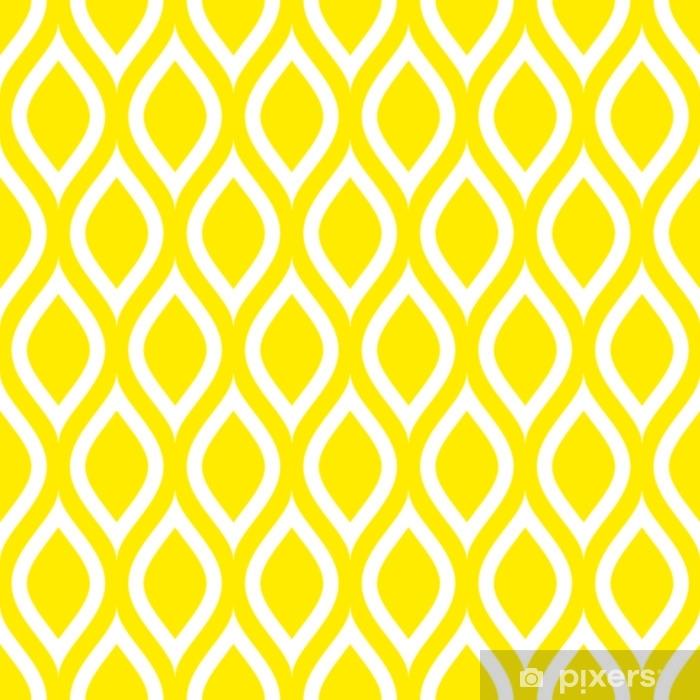 Abstrakte retro sømløse mønster citroner Vaskbare fototapet - Grafiske Ressourcer