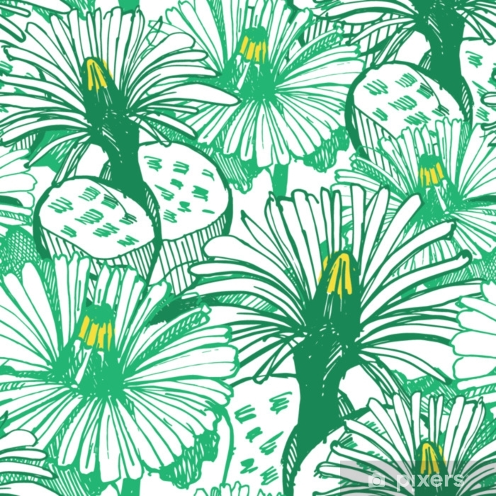 Alfombrilla de baño Fondo verde botánico - Plantas y flores