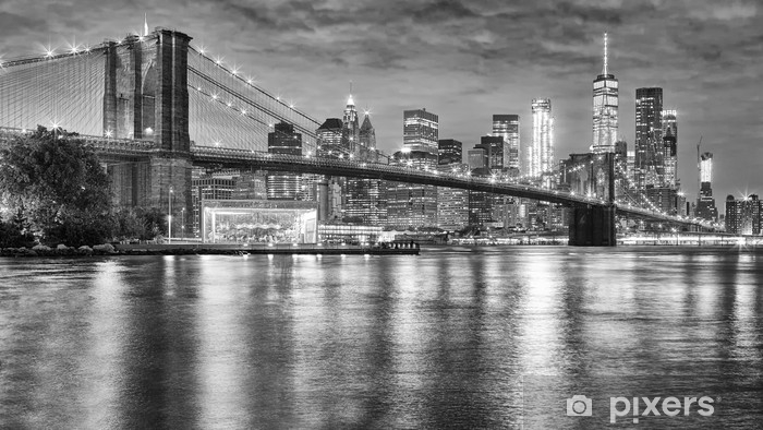 Papier Peint Photo Noir Et Blanc Du Pont De Brooklyn Et Manhattan