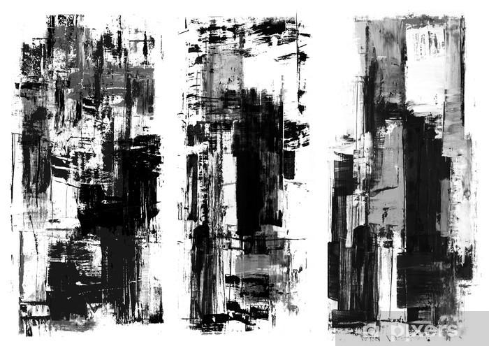 Hedendaags Fotobehang Een abstract schilderen geklater frame in zwart-wit TA-58