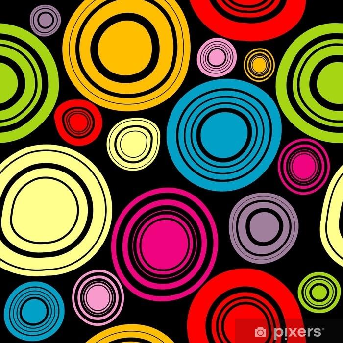 Vinyl Fotobehang Kleurrijke cirkels achtergrond - Grafische Bronnen