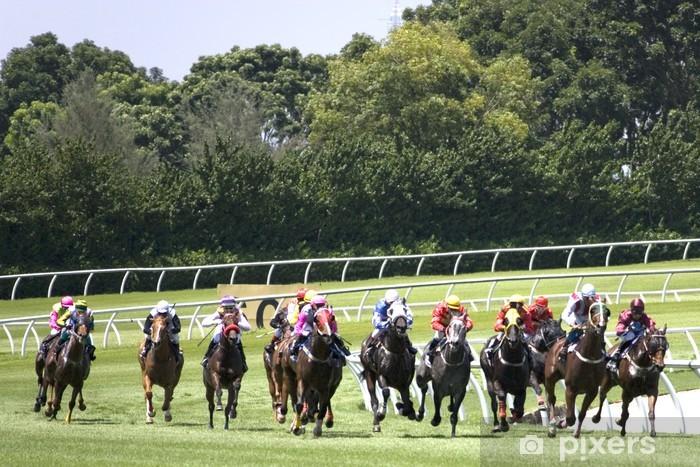 Sticker Pixerstick Course de chevaux - Sports d'extérieur