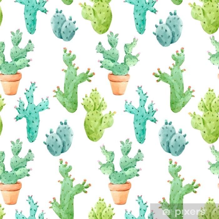 Papier Peint Modèle De Vecteur De Cactus Aquarelle Pixers Nous