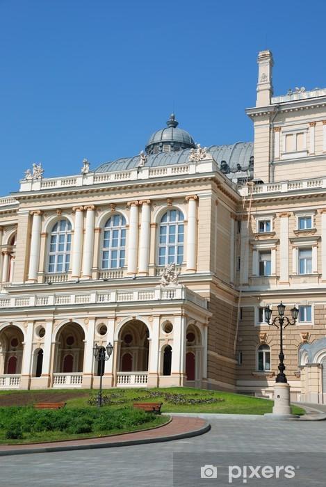 Fototapeta Fasada Budynku Opery W Odessie Ukraina Pixers