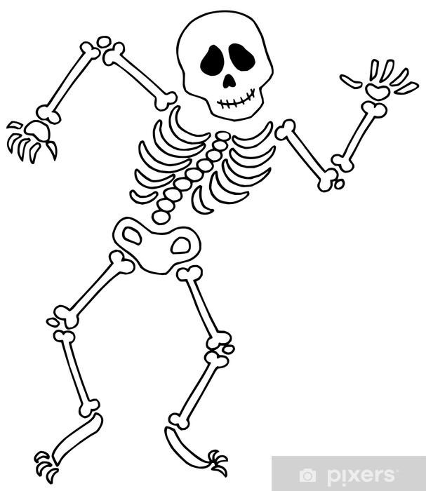 Fototapeta winylowa Skeleton Dancing - Inne przedmioty