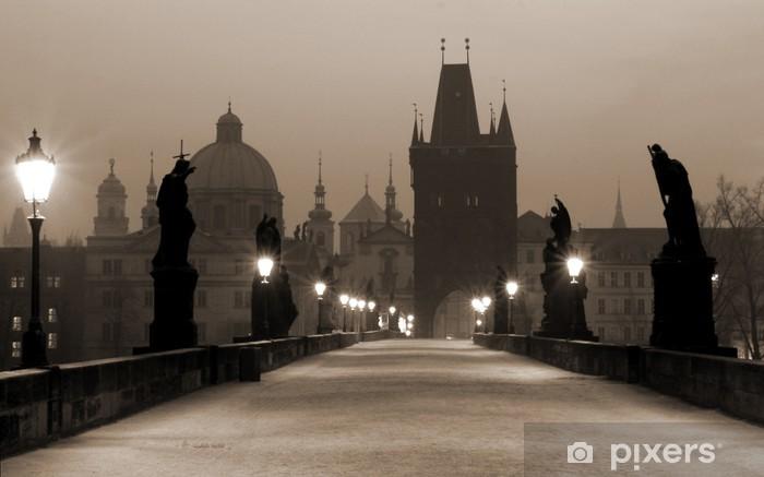 Naklejka Pixerstick Most Karola, (sepia) Praga - Praga