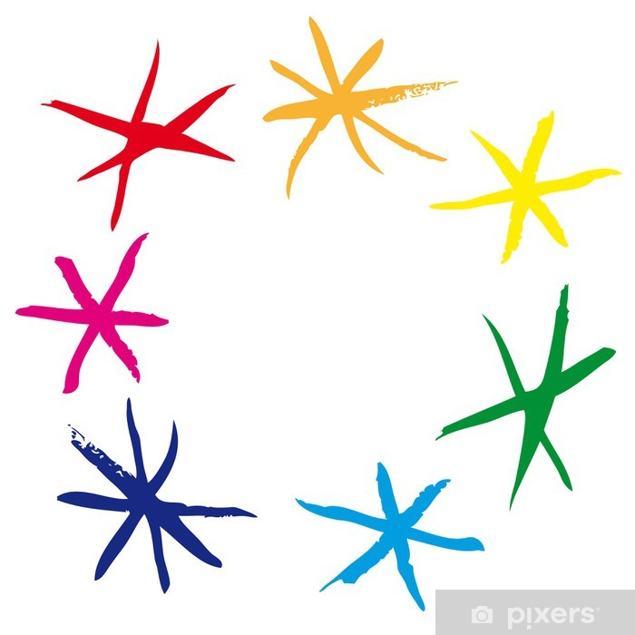 Plakat Gwiazdy w kole - Abstrakcja