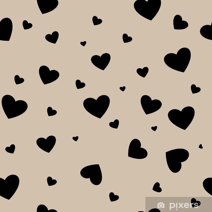 Nálepka Pixerstick Srdce pár bezešvé vzor - Grafika