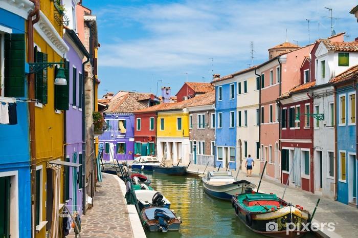 Fotomural Estándar Kanal en Burano Venedig - Ciudades europeas