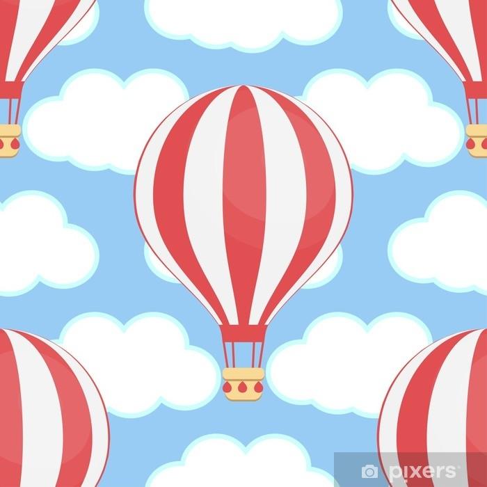 Poster Heißluftballon, Himmel, Wolken, nahtlos - Industrie
