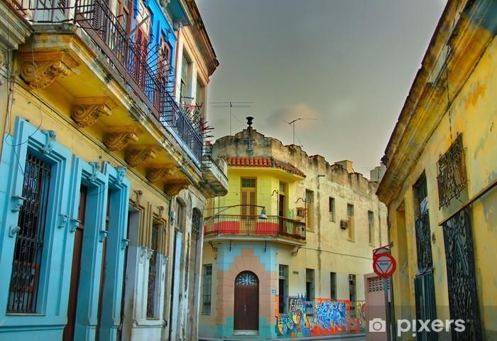 Fototapeta winylowa Kolorowe budynki Hawana - Tematy