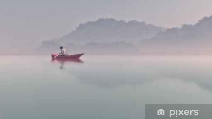 Carta da Parati in Vinile L'uomo in una barca - Persone