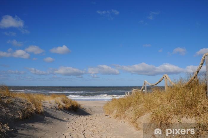 Fototapeta winylowa Fale na plaży wydmy samotne wakacje - Przeznaczenia