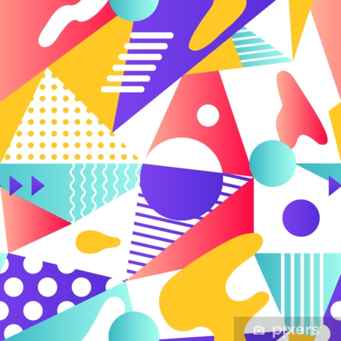 Abstract modern geometric background. Self-Adhesive Wall Mural - Graphic Resources