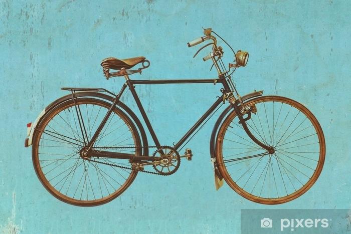 Retro-tyylinen kuva vintage polkupyörällä Vinyyli valokuvatapetti - Kuljetus
