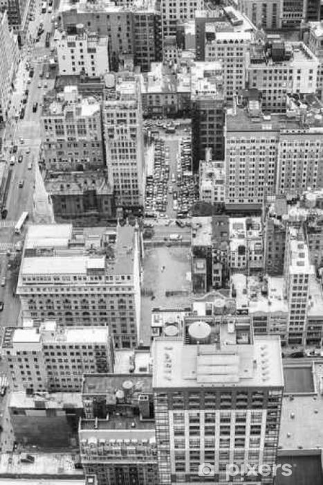 Vinylová fototapeta Černá a bílá letecký snímek Manhattan, New York, USA. - Vinylová fototapeta