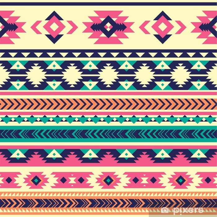 Tribal Vector Seamless Pattern Aztec Abstract Geometric Art Print Vector Background Wallpaper Cloth Design Fabric Paper Cover Textile Template