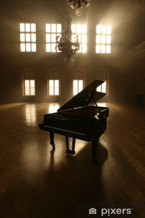 Pixerstick Aufkleber Grand Piano in Light - Klavier