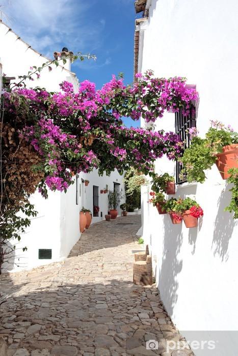 Fototapeta winylowa Wąskie, brukowane uliczki i domy hiszpańskich pueblo - Tematy