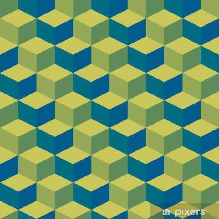 Naklejka Pixerstick Streszczenie geometryczne grafiki wzór zielonym tle tonu koloru - Zasoby graficzne