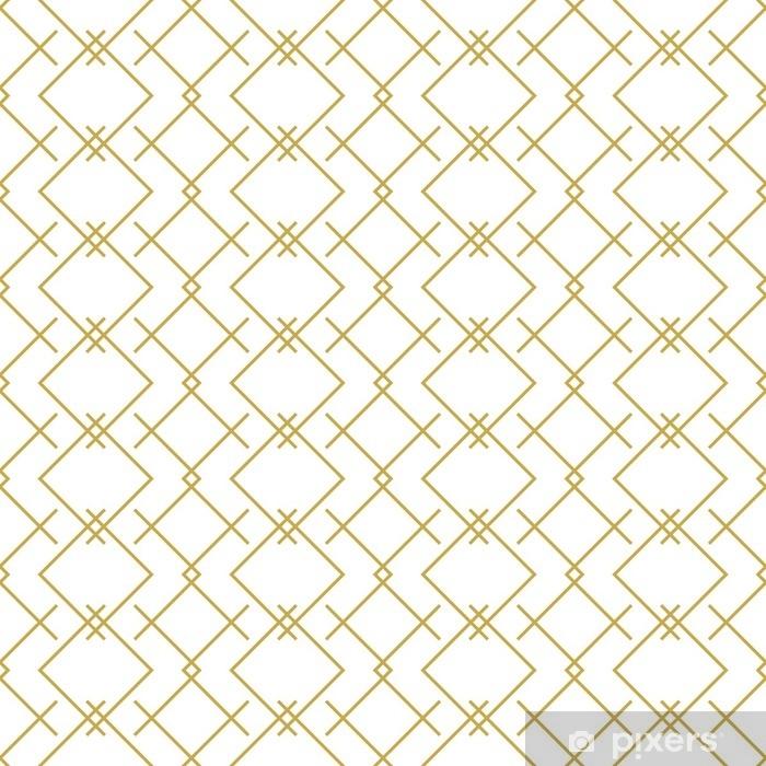 Pixerstick Sticker Stijlvolle lineaire geometrische naadloze vector patroon in goud - Grafische Bronnen