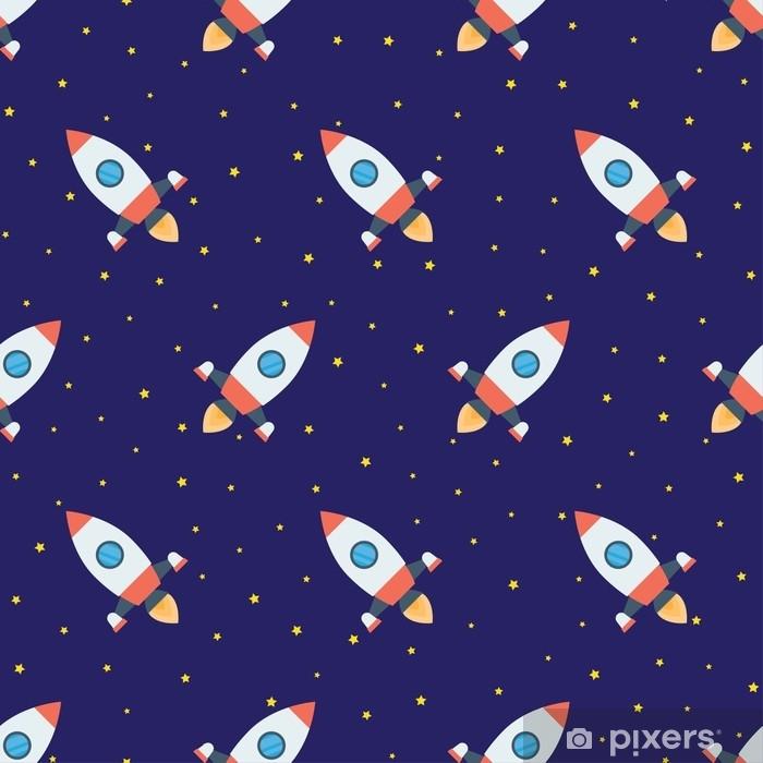 Plakat Rakiety w przestrzeni wzór - Zasoby graficzne
