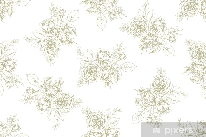 Papier peint vinyle Conception de tissu dans un style vintage français avec motif floral 1 - Ressources graphiques