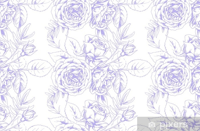 Design of fabric in French vintage style with floral motif 2 Pixerstick Sticker - Graphic Resources
