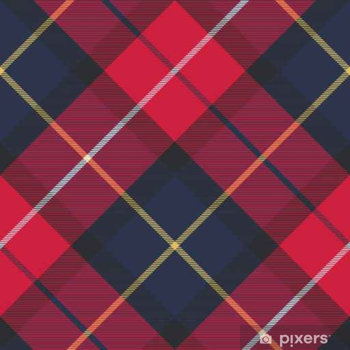 Seamless pattern check plaid fabric texture Vinyl Wall Mural - Graphic Resources