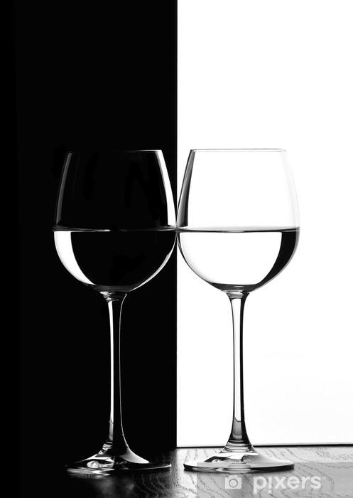Naklejka Pixerstick Dwa kieliszki do wina. - Wino