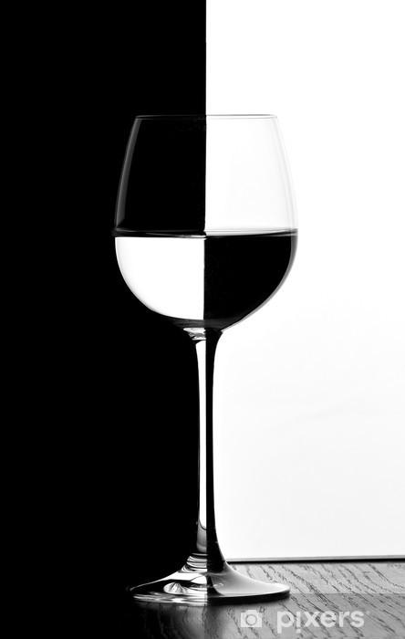 Sticker Pixerstick Verre de vin domino -