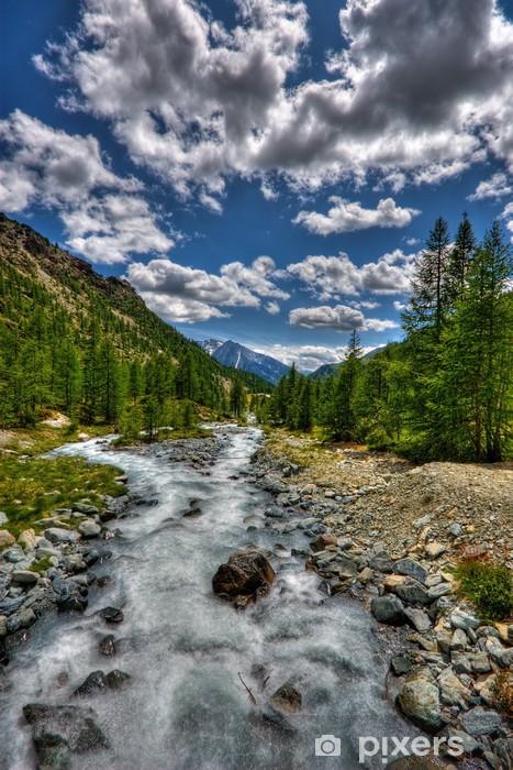Adesivo Pixerstick Vallata - Montagne