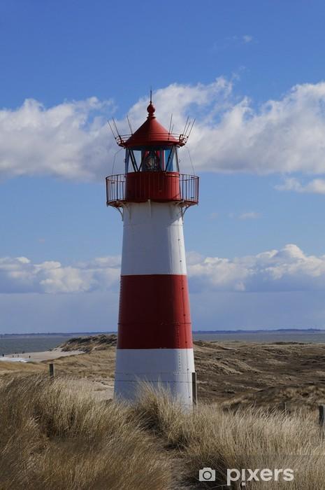 Fototapeta winylowa Wydmy Lista Lighthouse Sylt Elbow - Latarnia morska