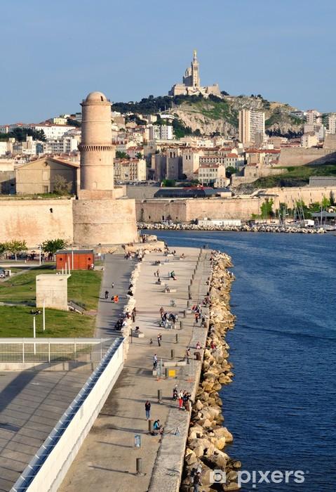 Pixerstick Sticker Ingang van de haven van Marseille - Vakantie