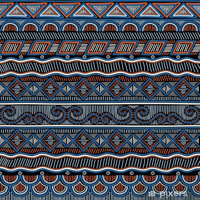 Geometric Ethnic Oriental Seamless Pattern Hand Doodled Traditional Design For Carpet Wallpaper Textile And Fabric Embroidery Stylized Vector Illustration Wall Mural Pixers We Live To Change