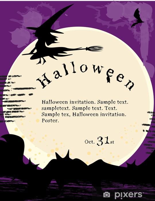 Naklejka Plakat Halloween Zaproszenie Pixers żyjemy By Zmieniać