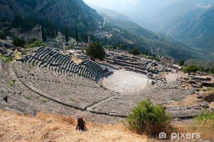 Naklejka Pixerstick Teatr grecki w delphi - Europa