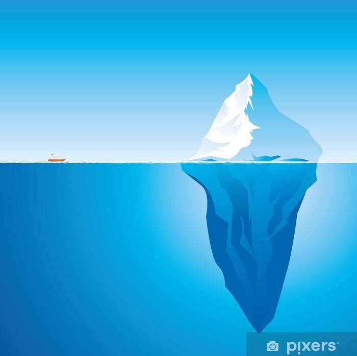 Plakat Góra lodowa - Biegun Północny i Południowy