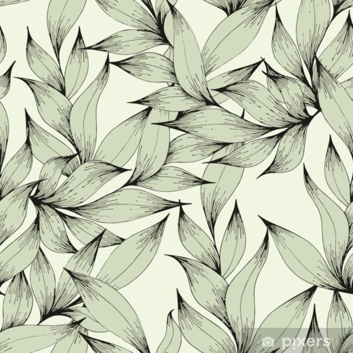 Coussin décoratif Modèle sans couture de vecteur avec des branches et des feuilles. dessin à main levée. motif décoratif pour la conception - Plantes et fleurs