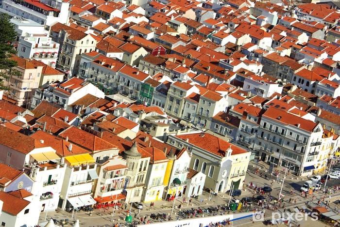 Naklejka Pixerstick Krajobraz miejski w Nazare, Portugalia. - Europa