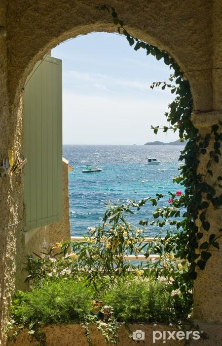 Pixerstick Aufkleber Fenster zum Meer - iStaging