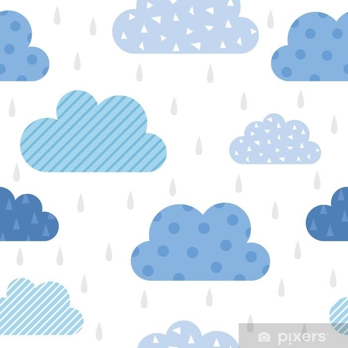 Pixerstick Sticker Schattig wolkenpatroon - Grafische Bronnen