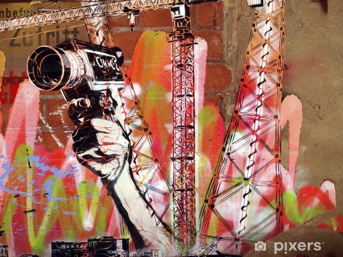 Papier peint vinyle Caméra PasteUp - Thèmes