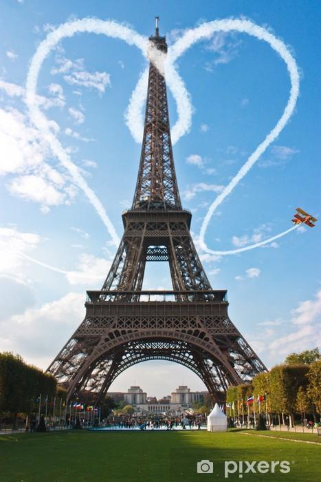 Naklejka Pixerstick Miłość w Paryżu wieży Eiffla Concept Francja - Ja i Ty - Tematy