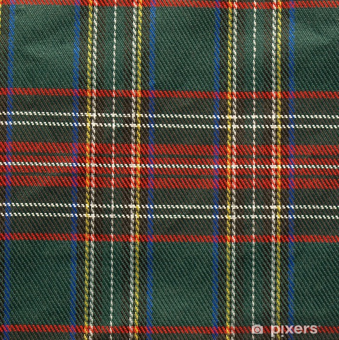 original Scottish Tartan background Pixerstick Sticker - Europe