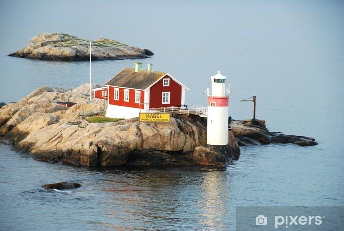 Papier peint vinyle Île de l'Archipel avec le phare - Phare
