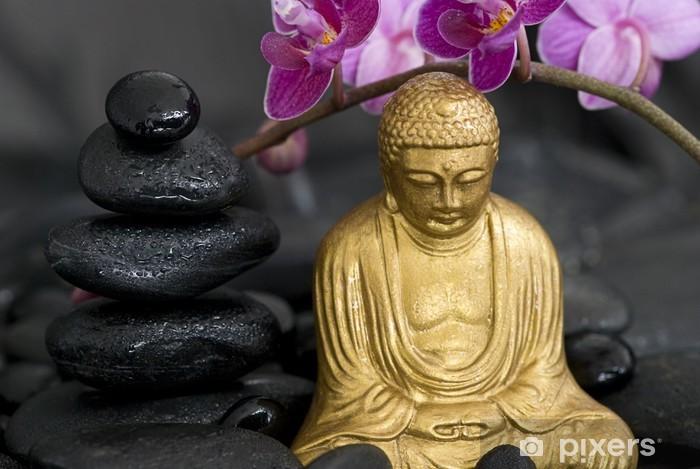 Naklejka Pixerstick Buddha und Orchidee - Tematy
